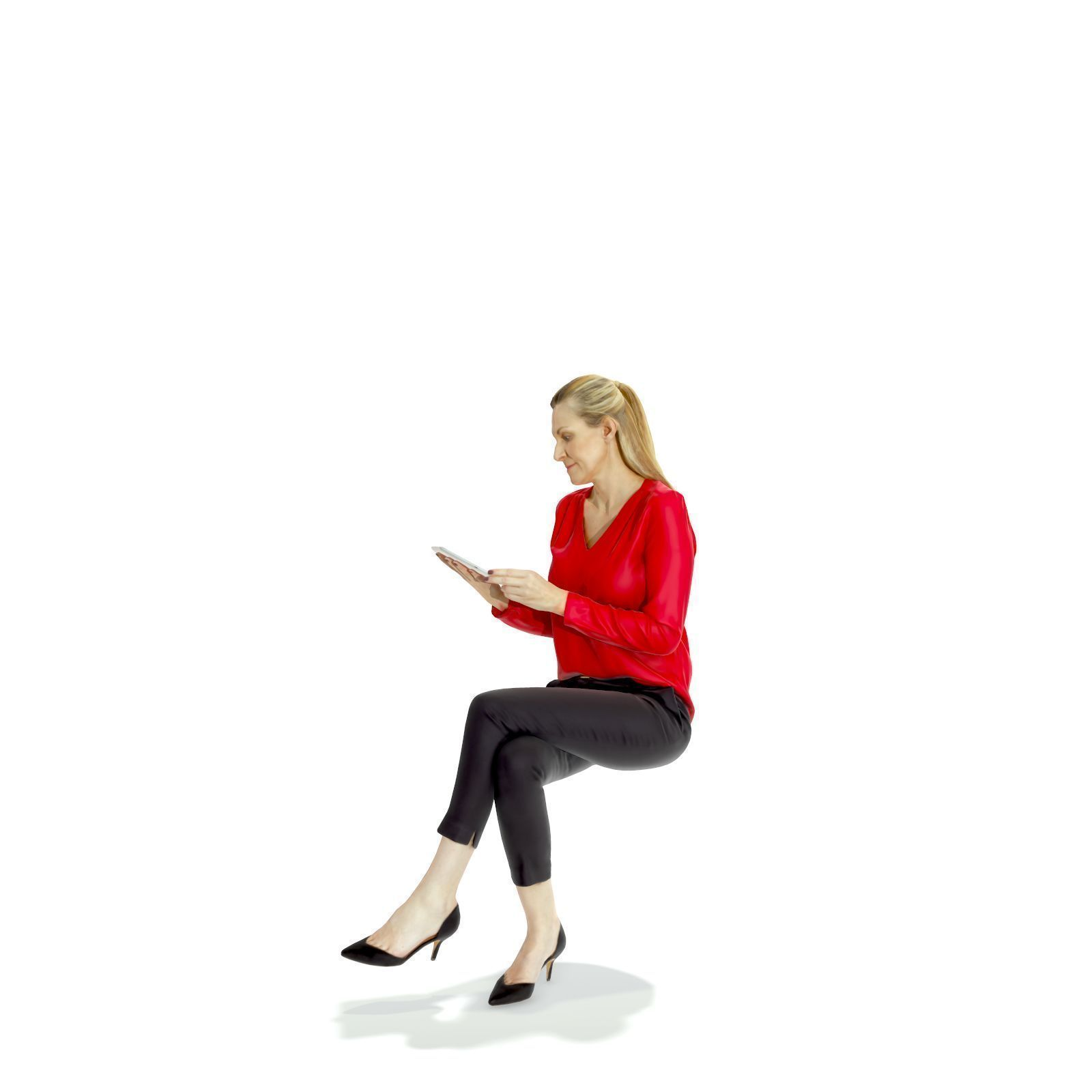 Sitting Business Woman With Tablet Bwom0318 Hd2 O01p01 S 3d Model Render People People Png Vector Illustration People