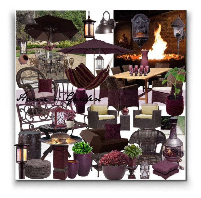 """""""Home & Garden"""" by marionmeyer on Polyvore featuring interior, interiors, interior design, Zuhause, home decor, interior decorating, Oakland Living, Feiss, Pier 1 Imports und Troy Lighting"""