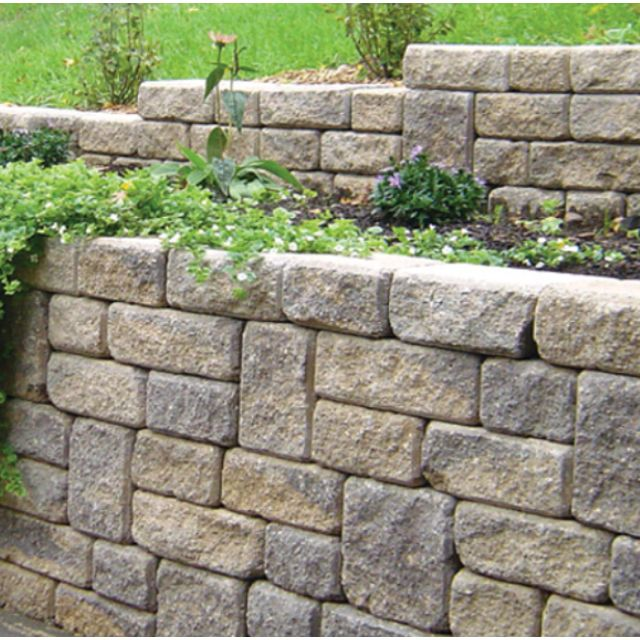 Roman Stack Stone Retaining Wall, This Is Perfect For My