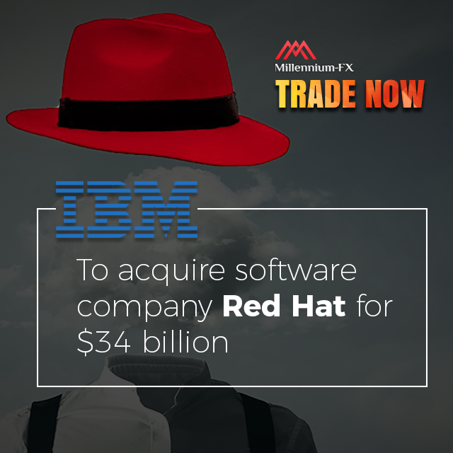IBM to acquire software company Red Hat for 34 billion.