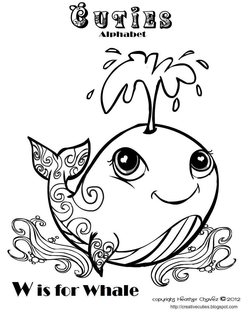 Creative Cuties Whale Coloring Pages Cute Coloring Pages