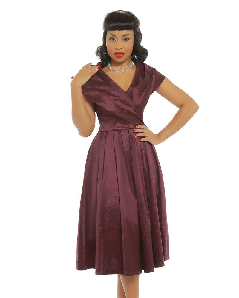 62ea41c4c8b4 Amber Purple Occasion Swing Dress | Vintage Style Fashion - Lindy Bop