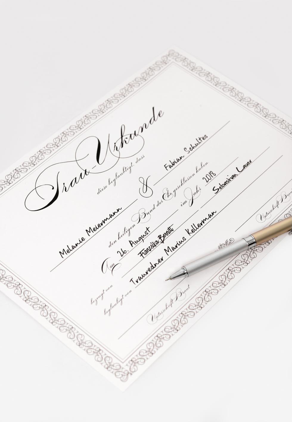 Trau Urkunde Zauberhafte Heiratsurkunde Fur Die Freie Trauung Urkunde Urkunde Erstellen Trauung