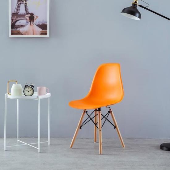 Dora Household 1 × Chaise Design Scandinave pieds en bois de