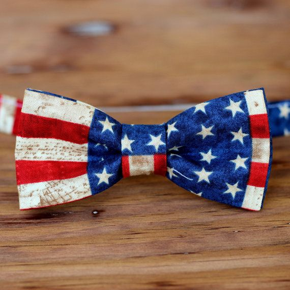 Mens American Flag Bow Tie Cotton Stars And Stripes Bowtie Etsy American Flag Bow Flag Bow Tie Kids Bow Ties
