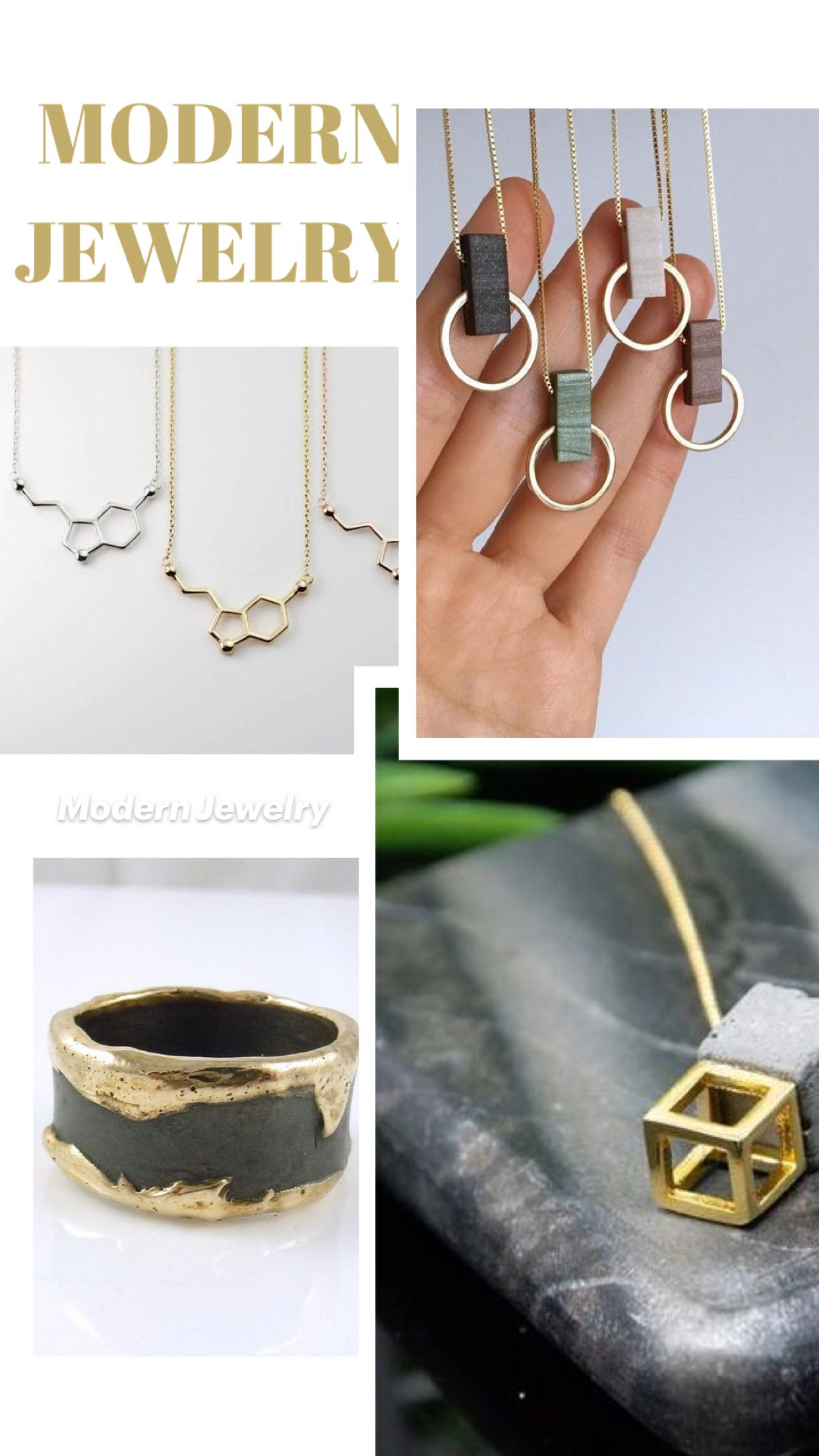 golden... contemporary jewel My cage.. Concrete and gold ring