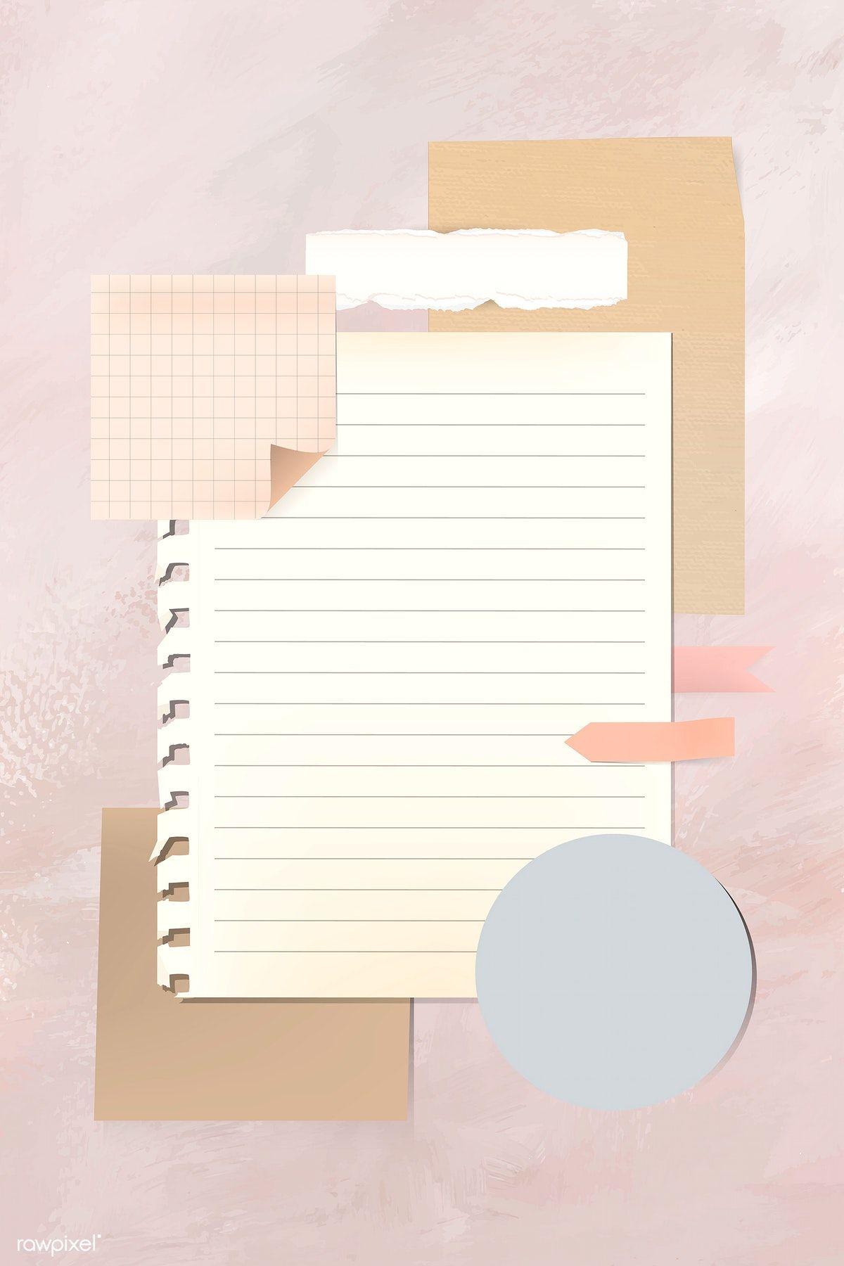 Download Premium Vector Of Blank Vintage Note Paper Template Vector Note Paper Paper Template Paper Background Texture