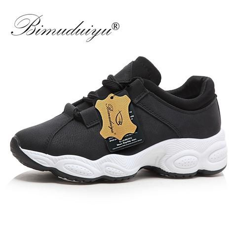 bimuduiyu new spring fashion women casual shoes pu leather