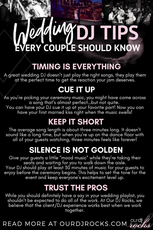 Wedding Dj Tips Every Couple Should Know In 2020 Wedding Dj Ceremony Music Dj