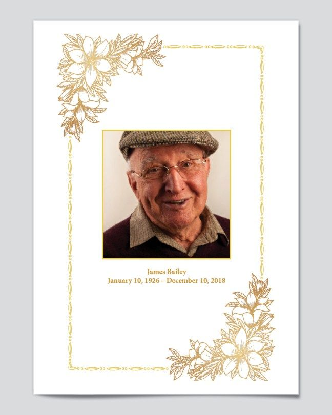 Free Editable Funeral Program Templates