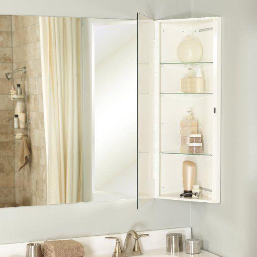 Robot Check Bathroom Storage Organization Corner Medicine Cabinet Adjustable Shelving