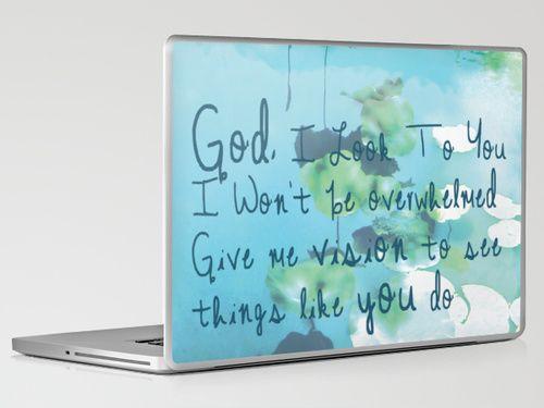 God I Look To You Laptop & iPad Skin by JacquelineMay I Society6 $30.00