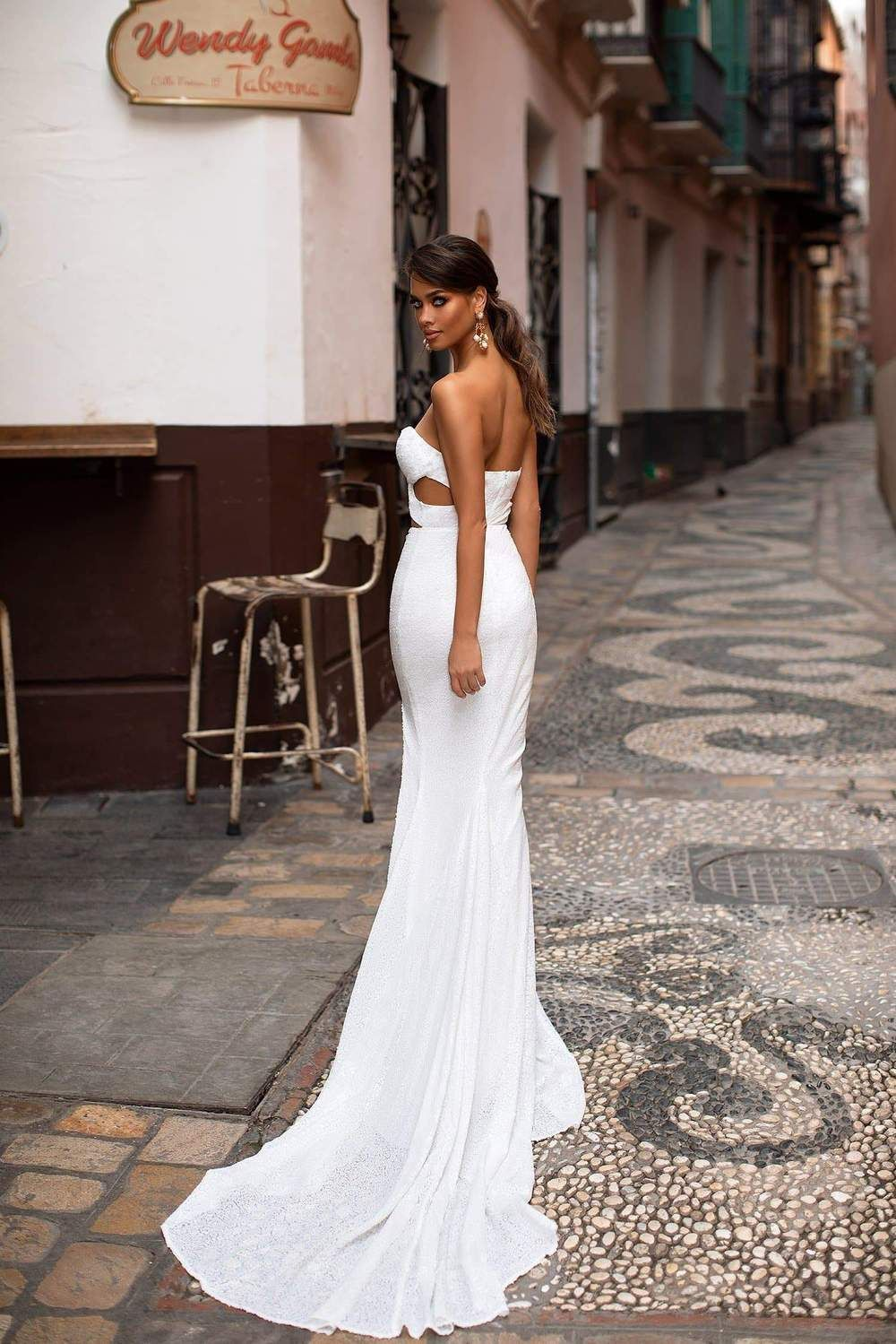 Malika Copper Gold White Sequin Dress Dresses Dreamy Gowns [ 1499 x 1000 Pixel ]