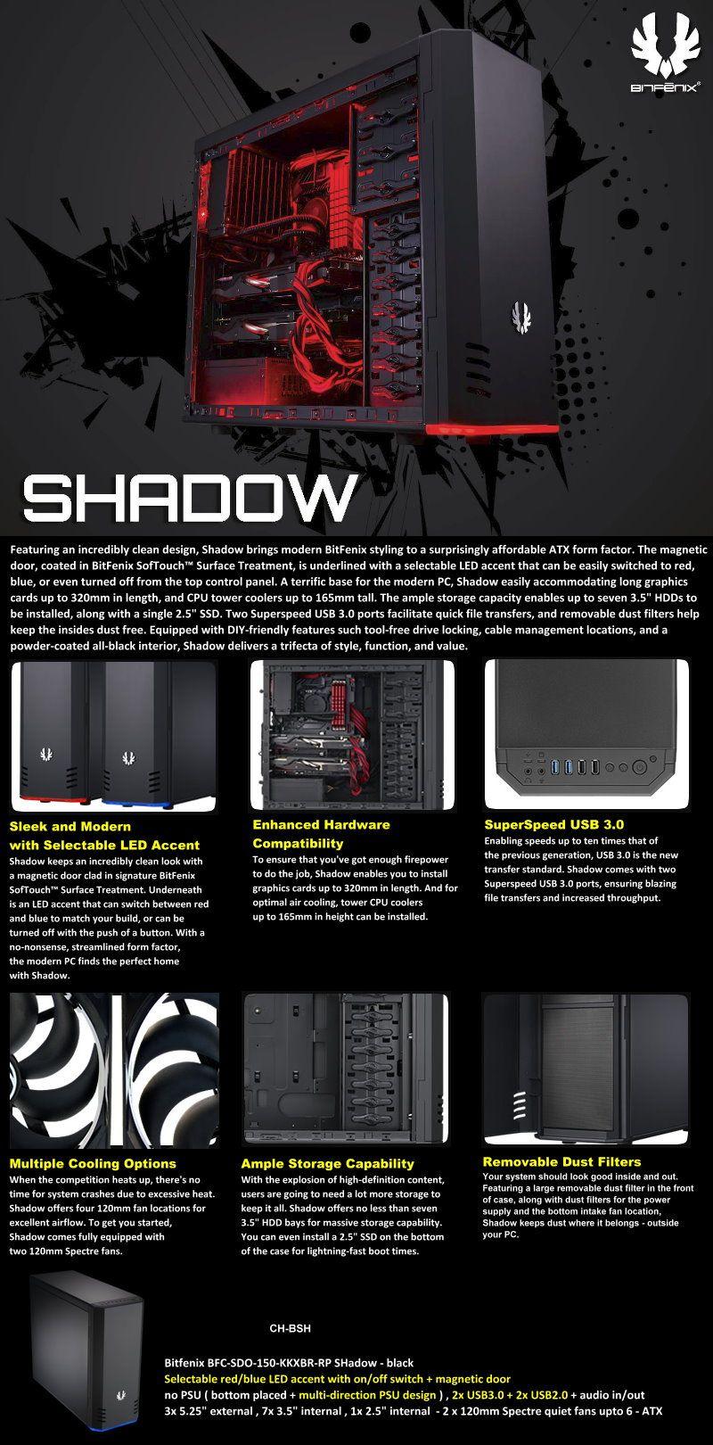 Bitfenix Shadow Clean Design Shadow Design