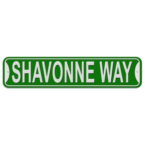 Shavonne Way - Green - Plastic Wall Sign