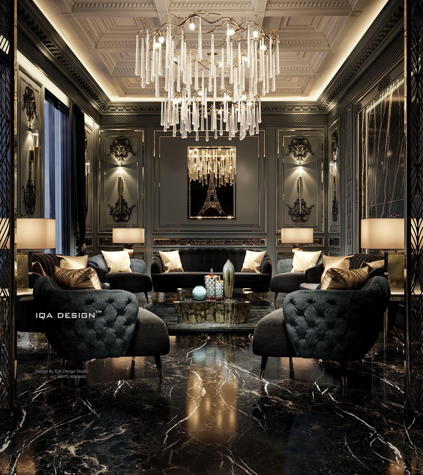 "Luxury Master Bedroom Dubai On Behance: LUXURY LIVING ROOM ""DUBAI"" On Behance In 2020"