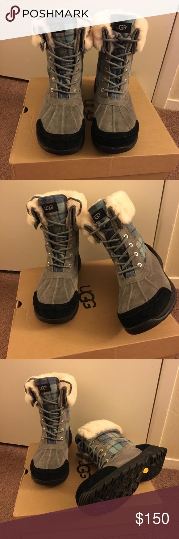 59888e003fc NIB UGG Men's Butte Surf Plaid Winter Boots 100% Authentic Brand New ...