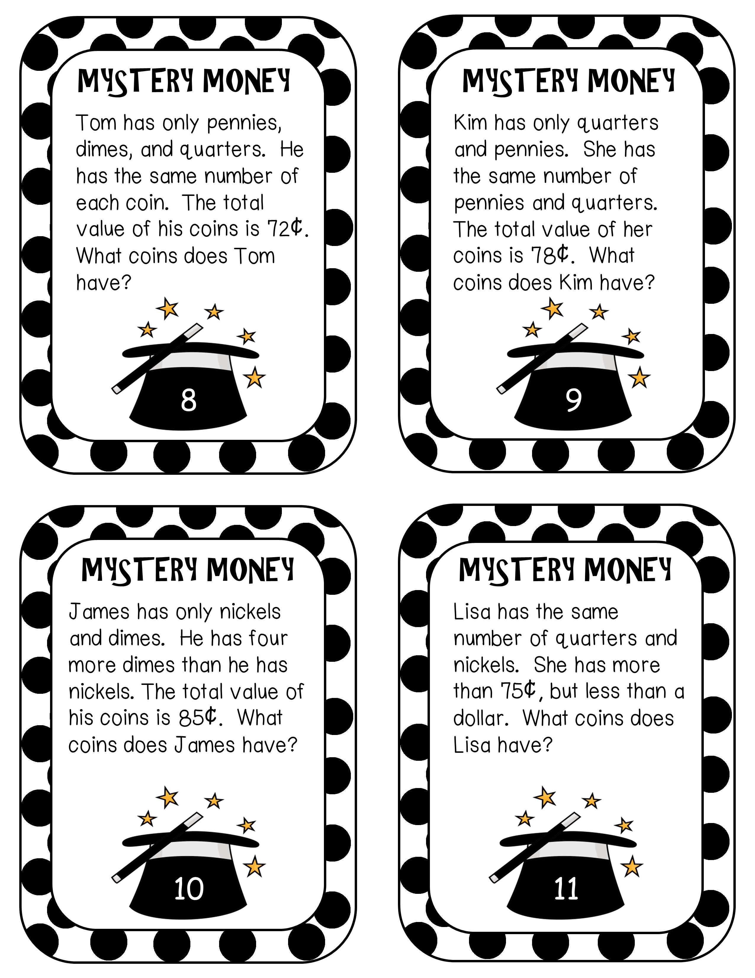 Money Unit: Money Centers, Money Games, Money Activities