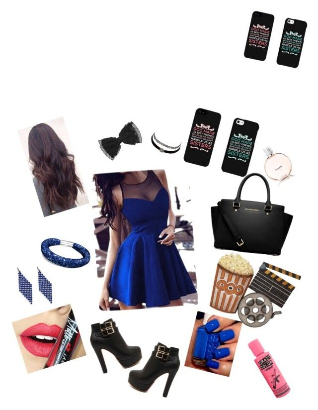 """""""Go into the Cinema"""" by happygirl18 ❤ liked on Polyvore featuring MICHAEL Michael Kors, Charlotte Russe, Robert Rose, Fiebiger, Chanel and Dot & Bo"""