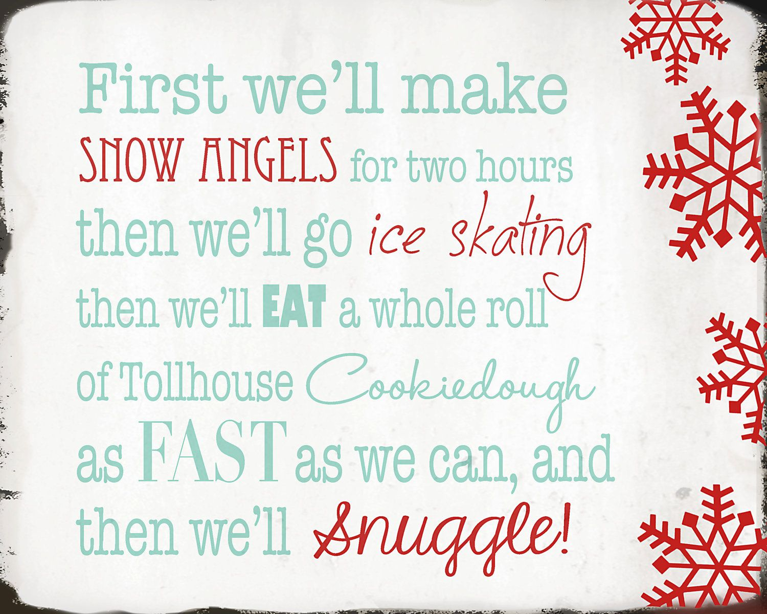 Elf Quotes Adorable Instant Digital Download  Elf Quote  We Will Make Snow Angels . Decorating Inspiration