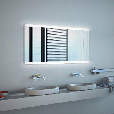 Noemi NEON Badspiegel mit Beleuchtung (B) 130 cm x (H