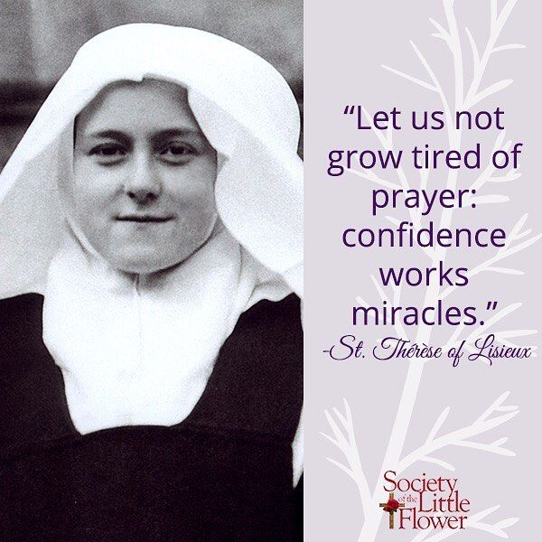 St Therese Pray For Us In Confidence And Trust