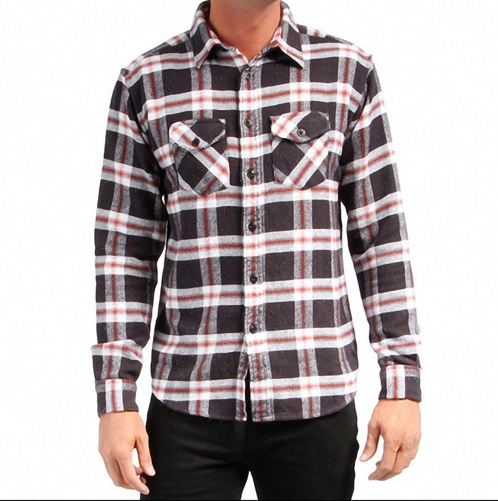 Flannel shirt black  Matix Lendell Long Sleeve Flannel Shirt Black SZ MD MSRP  NWT