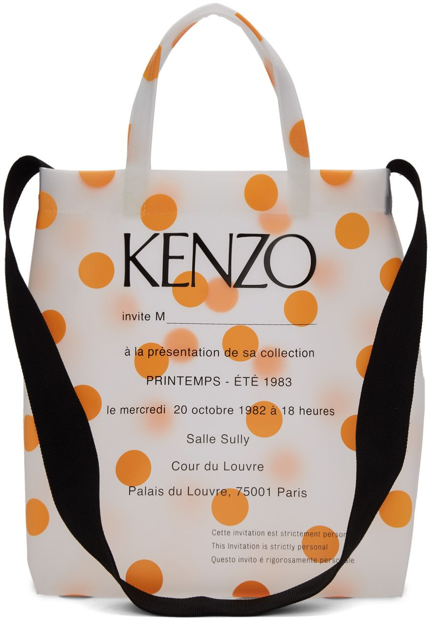 dea630790e Kenzo - Orange Polka Dot Invitation Tote | SS20 HANDBAGS in 2019 ...
