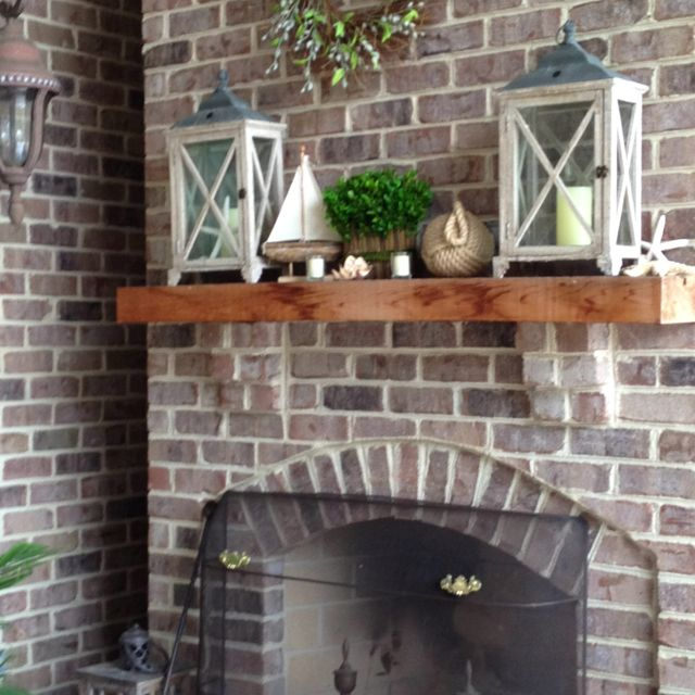 Outdoor Fireplace Mantel Candle Cage Thingies Home Is My Happy
