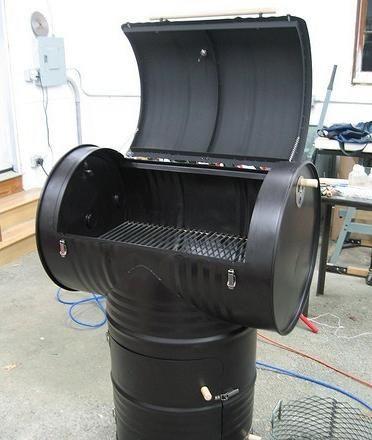 fabriquer un fumoir avec 2 bidons de 200l fumoir maison pinterest fumoir bidon et. Black Bedroom Furniture Sets. Home Design Ideas