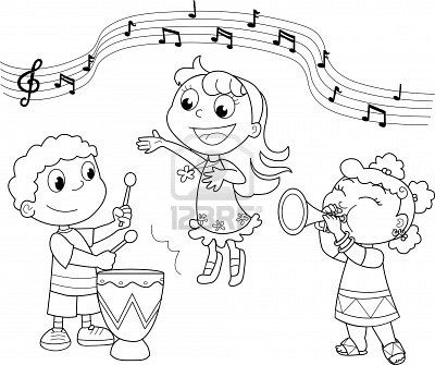 Coloring Book Images Of Children Singing In A Circle Google Search Music Coloring Music Coloring Sheets Coloring Pages