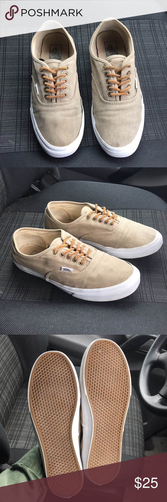 Vans canvas with leather laces | White