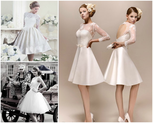 vintage short wedding dresses | Marriage | Pinterest | Short ...