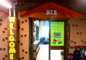 Dog and cat themed classroom