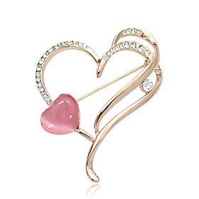 Pink Love Diamond Brooch