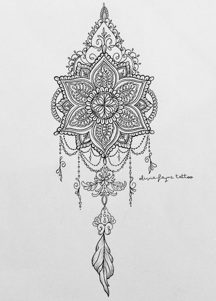 c99a0b40ce148 Olivia-Fayne Tattoo Design - GALLERY | October | Tattoos, Mandala ...
