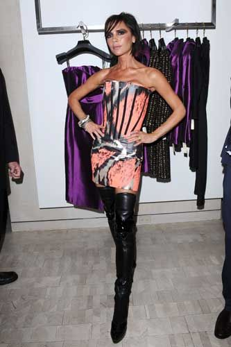 Spotted! Victoria Beckham in thigh high boots at Fashion's Night ...