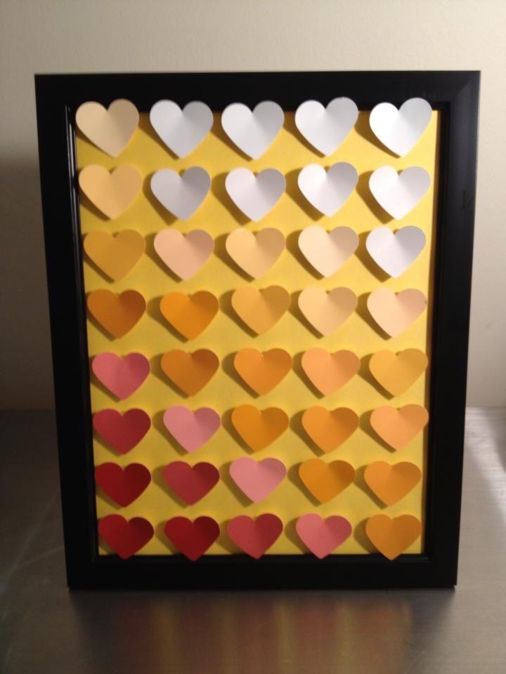 """My 3D ombré heart artwork (""""heartwork"""")"""