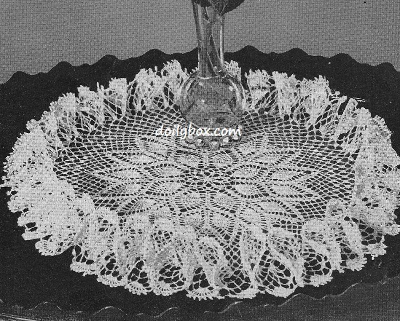 Free Crochet - Pineapple Ruffle Doily Pattern | Project | Pinterest ...