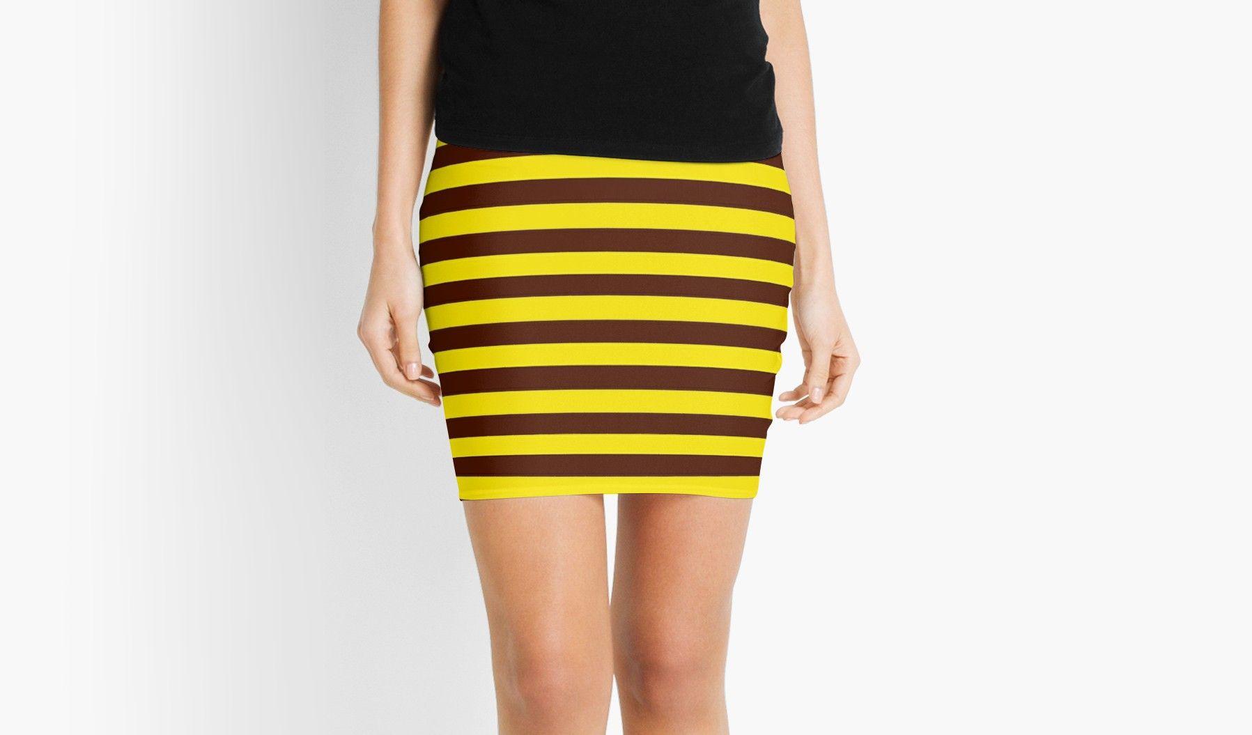 Pattern Striped Skirt Small