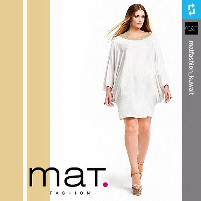 #Repost from @matfashion_kuwait • A dynamic style from the 'Summer White' collection. Our store is located in @al_fanarmall