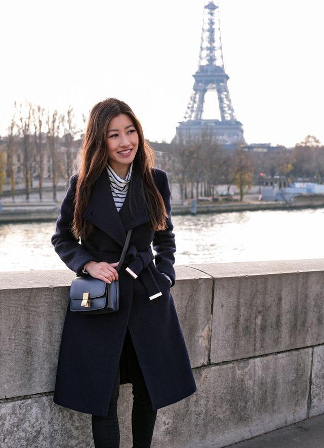 Winter in Paris // Ted Baker Wool Wrap Coat   Celine Box Bag ...