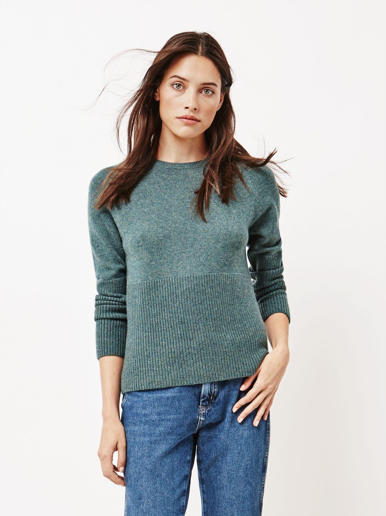 Women's High Ribb Sweater Forest Green | Tröjor, Kvinnor