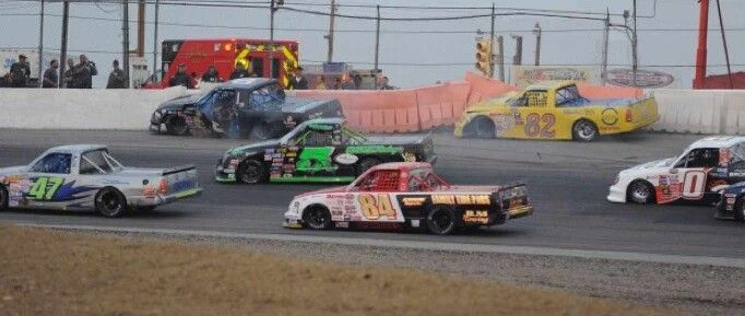 Yet another wreck in the Pro Trucks (Starr photo)