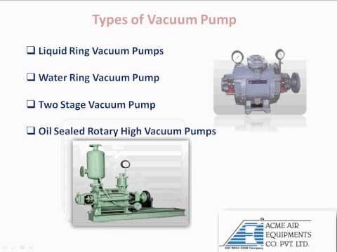 This Video Provides An Information About Vacuum Pump Operation