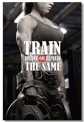 Details about Poster Fitness Workout Quotes Motivational Inspiration Muscle Gym Font Print 029