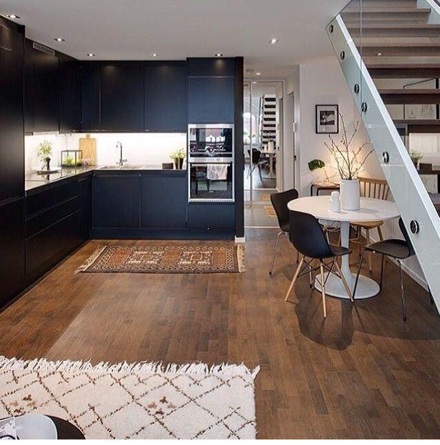 Elegant Open Plan Kitchen Via Myinterior Instagram