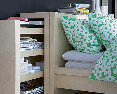 Top la t te de lit malm pour ranger ma collection de livres et de cr mes pou - Tete de lit ikea malm ...