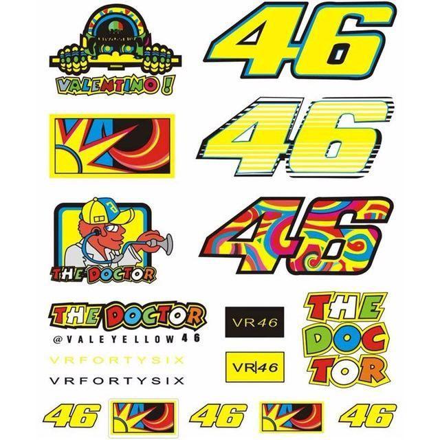 Valentino Rossi 46  Vinyl Decal Sticker