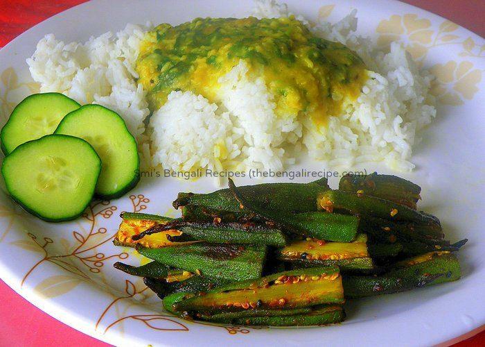 Click here for bengali vegetarian niramish recipe of fried bhindi or click here for bengali vegetarian niramish recipe of fried bhindi or dhaarosh bhaja bengali fried forumfinder Choice Image
